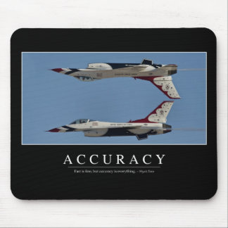 Accuracy: Inspirational Quote Mouse Mat