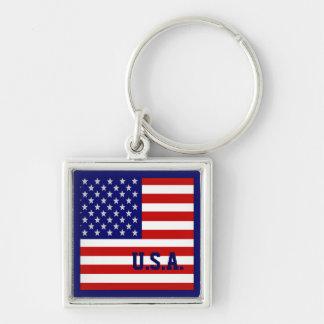 Accurate USA American Flag Keychain Keychains