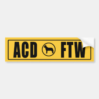 ACD - FTW BUMPER STICKER