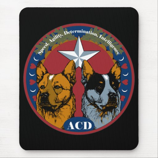 ACD: Speed, Agility, Determination, Intelligence Mousepads