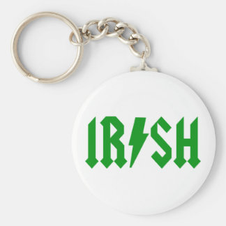 acdc_irish basic round button key ring