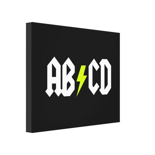 ACDC Yellow Bolt Canvas Print