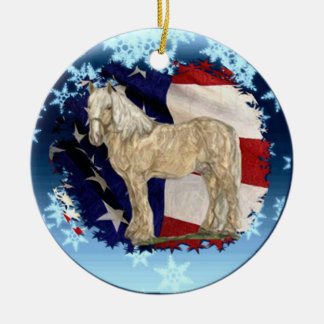 ACDHA Cream Horse Christmas Ornament