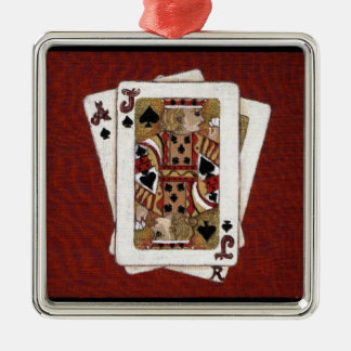 Ace and Jack Playing Cards Ornament by K. Hubler