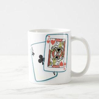 Ace and Jack Poker Cards Basic White Mug