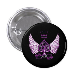 Ace Asexual LGBT Pride Wings and Crown 3 Cm Round Badge