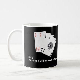 ACE Attitude + Commitment = Excellence Basic White Mug
