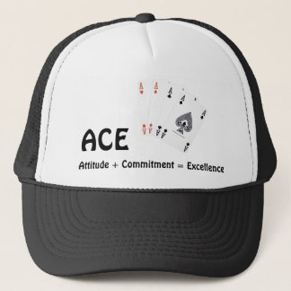 ACE Attitude + Commitment = Excellence Trucker Hat
