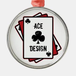 Ace Design Silver-Colored Round Decoration