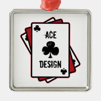 Ace Design Silver-Colored Square Decoration