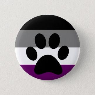 Ace furry 6 cm round badge