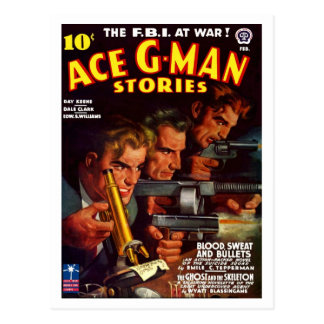 Ace G-Man Stories Postcard