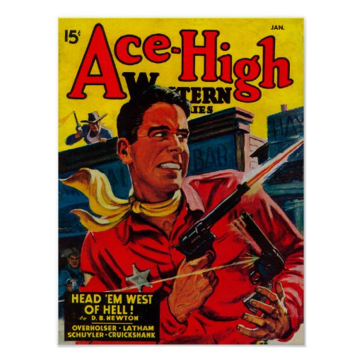 Ace High Magazine Cover 3 Poster