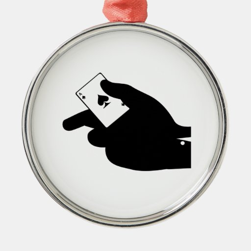 Ace in a Hand Ornament