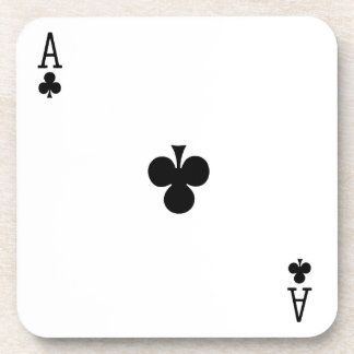 Ace of Clubs Card Game coaster
