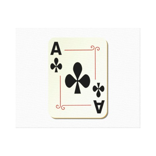 Ace of Clubs Playing Card Canvas Print