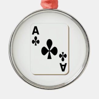 Ace of Clubs Playing Card Christmas Tree Ornaments