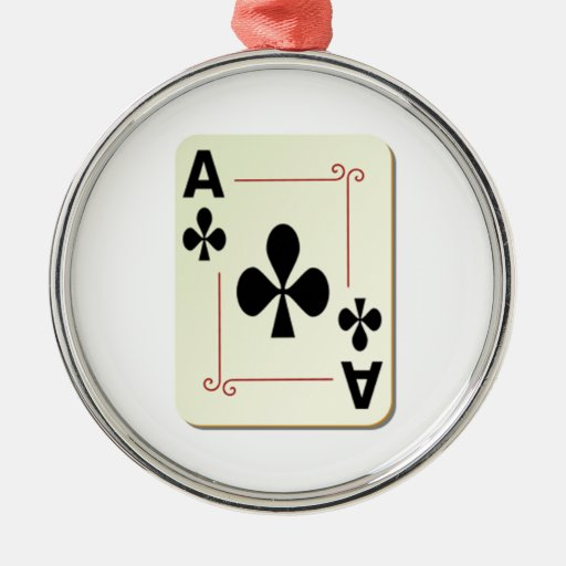 Ace of Clubs Playing Card Ornaments