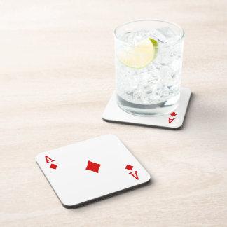 Ace of Diamonds coasters