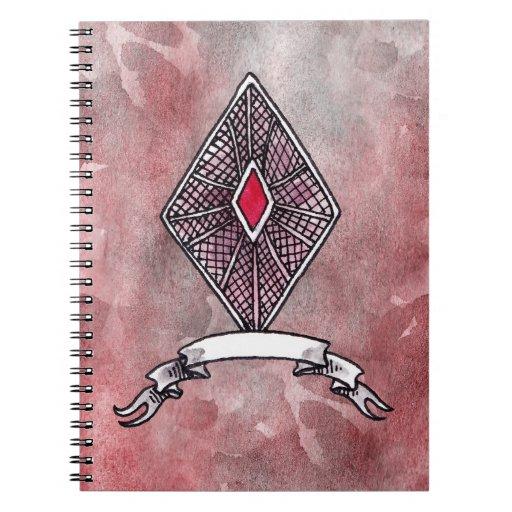 Ace of Diamonds Spiral Note Books