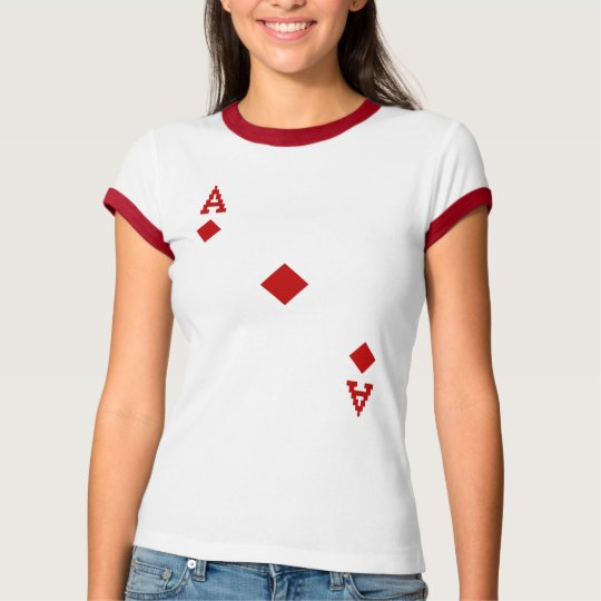 Ace of Diamonds Pixelated Diamonds T-Shirt