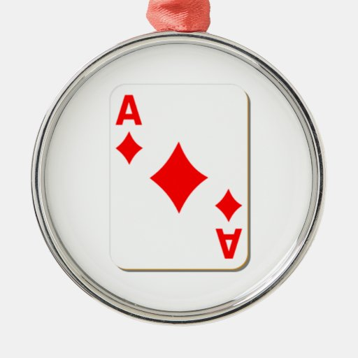 Ace of Diamonds Playing Card Christmas Ornaments