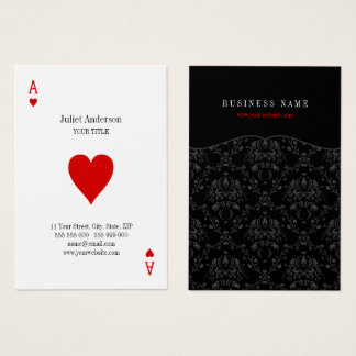 Ace Of Hearts business card