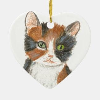 Ace of Hearts Ceramic Heart Decoration