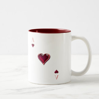 Ace of Hearts Coffee Cup Two-Tone Mug