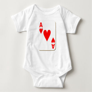 Ace of Hearts Playing Card Baby Bodysuit