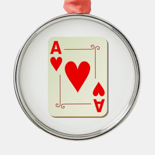 Ace of Hearts Playing Card Ornaments