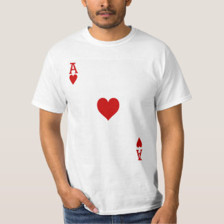 Ace of Hearts Playing Card T-Shirt