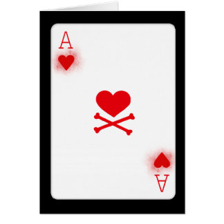Ace of Hearts Poker Playing Card Game Card