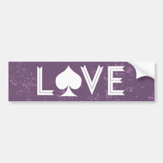 Ace of Love Bumper Sticker