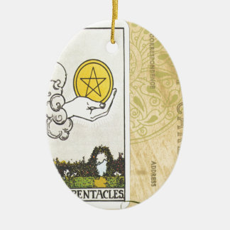 Ace Of Pentacles Tarot Postcard Fortune Teller Ornaments