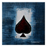 Ace of Spade Man Cave Art Poster
