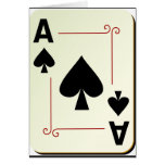 ace of spade note card