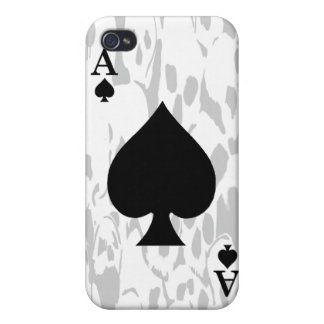 Ace of Spades and Skull iPhone Case Case For iPhone 4