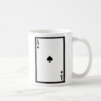 Ace Of Spades Basic White Mug