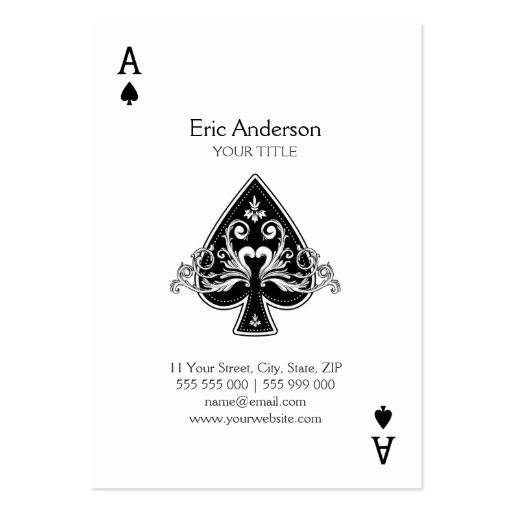 Collections of playing card business cards ace of spades business card colourmoves Image collections