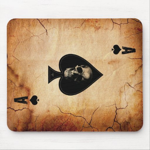 Ace of Spades card Mouse Pads