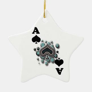 Ace of spades ceramic star decoration