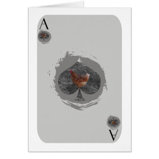 Ace of Spades Chicken Card