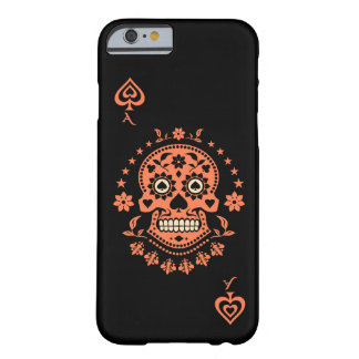 Ace of Spades Day of the Dead Sugar Skull Barely There iPhone 6 Case