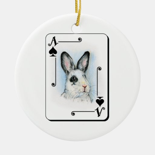 Ace of Spades Christmas Ornament