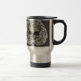 Ace of Spades Decorative Skull Stainless Steel Travel Mug