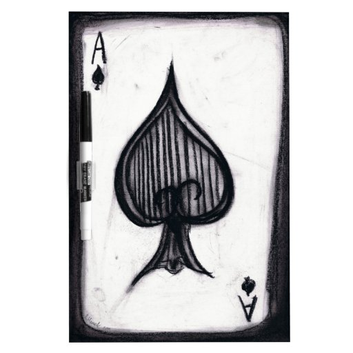 Ace of Spades Dry-Erase Board