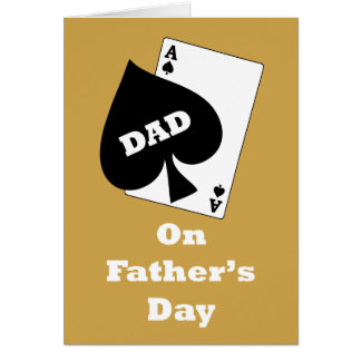 Ace Of Spades Father's Day Card