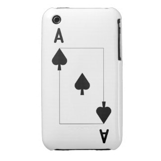 Ace of Spades iPhone 3G/3Gs, Barely There Case-Mate iPhone 3 Case