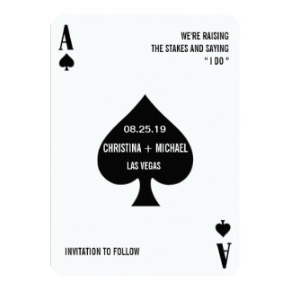 Ace of Spades Modern Chic Photo Save The Date 11 Cm X 16 Cm Invitation Card